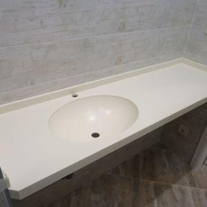 Столешница с интегрированной раковиной для ванной комнаты, камень LG HI-MACS - S 09