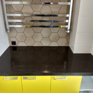Столешница в ванную комнату, искусственный камень Grandex - A 419